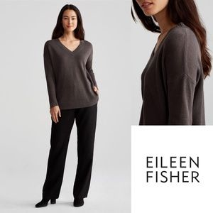 Eileen Fisher Relaxed V Neck Pullover Sweater NWT